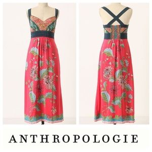 Anthropologie Edme & Esyllte Silk Maxi Dress